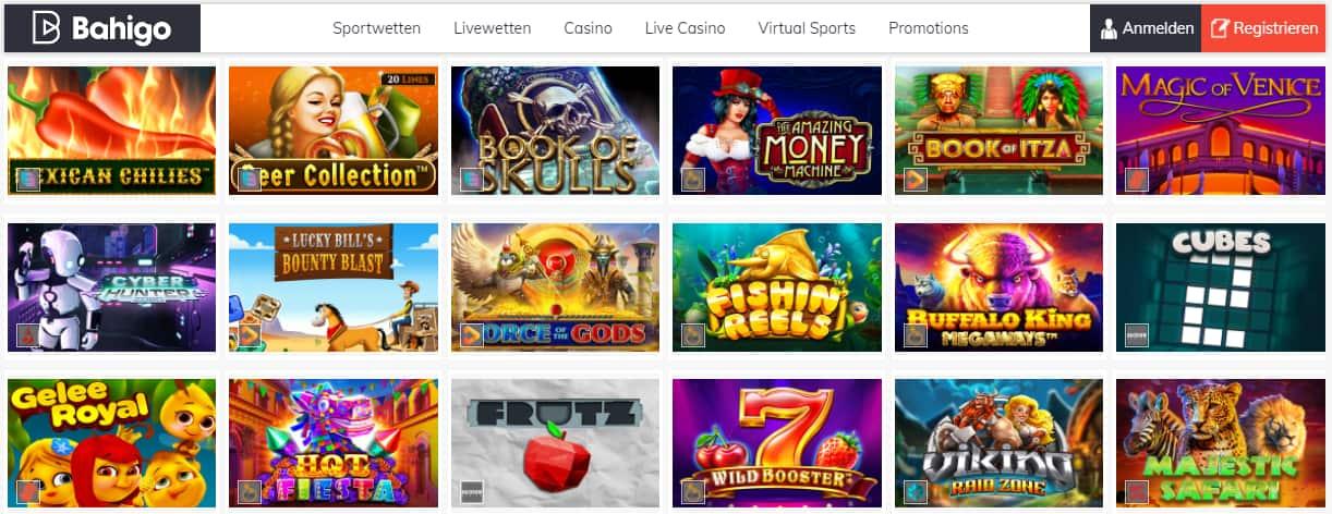 Bahigo Casino Spiele