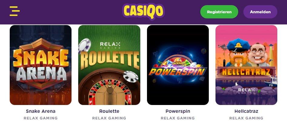 Casiqo Spiele / Slots