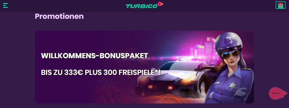 Turbico Casino Bonus
