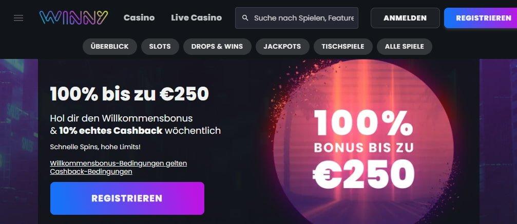 Winny Casino Bonus