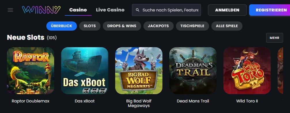 Winny Casino Spiele & Slots