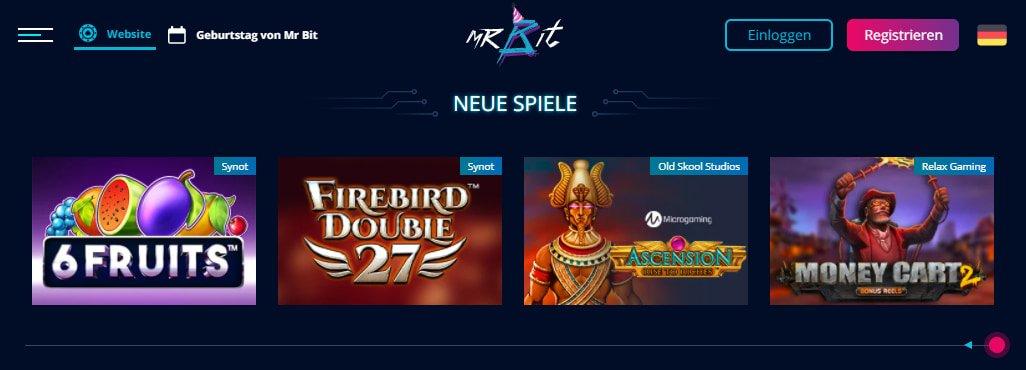 Mr Bit Casino Slots und Spiele