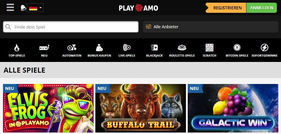 Playamo Casino Spiele und Games