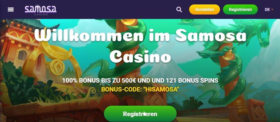 Samosa Casino Bonus für Neukunden