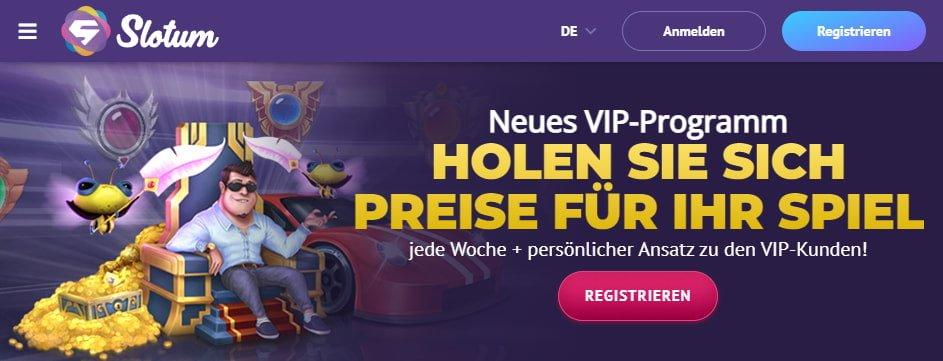 Slotum Casino Aktionen & VIP Programm
