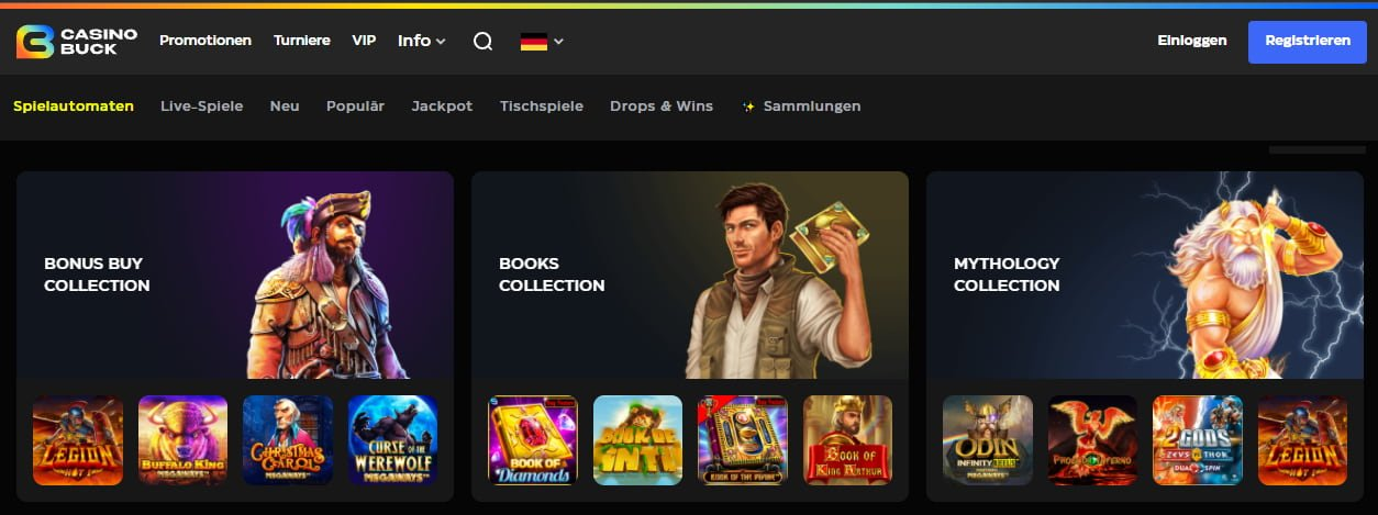 Casino Buck Slots und Spiele