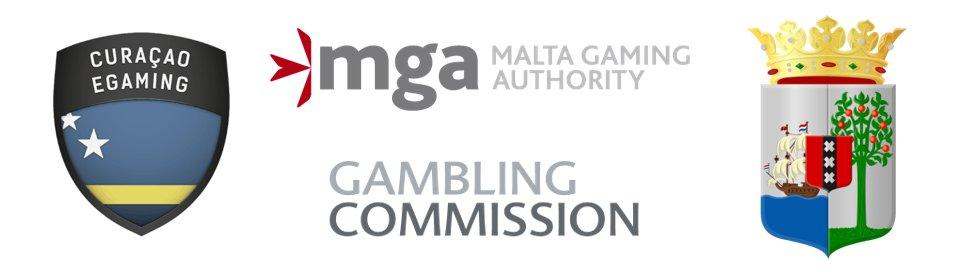 Online Casino Lizenzen Logos